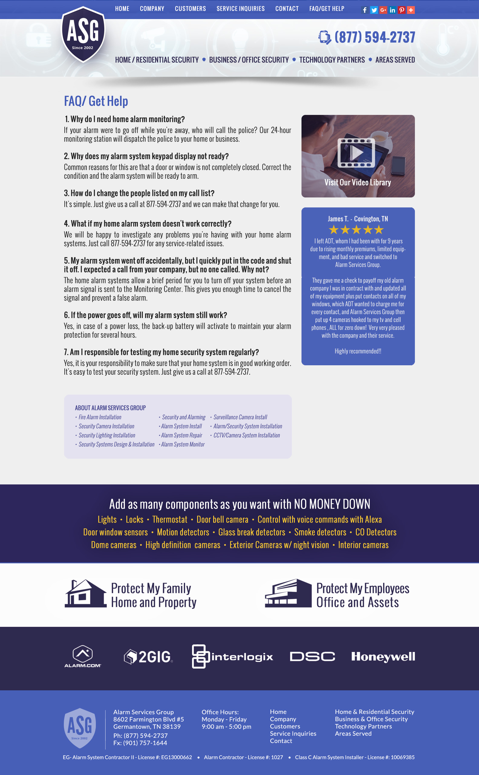 Website Design for home security companies | VISIONEFX