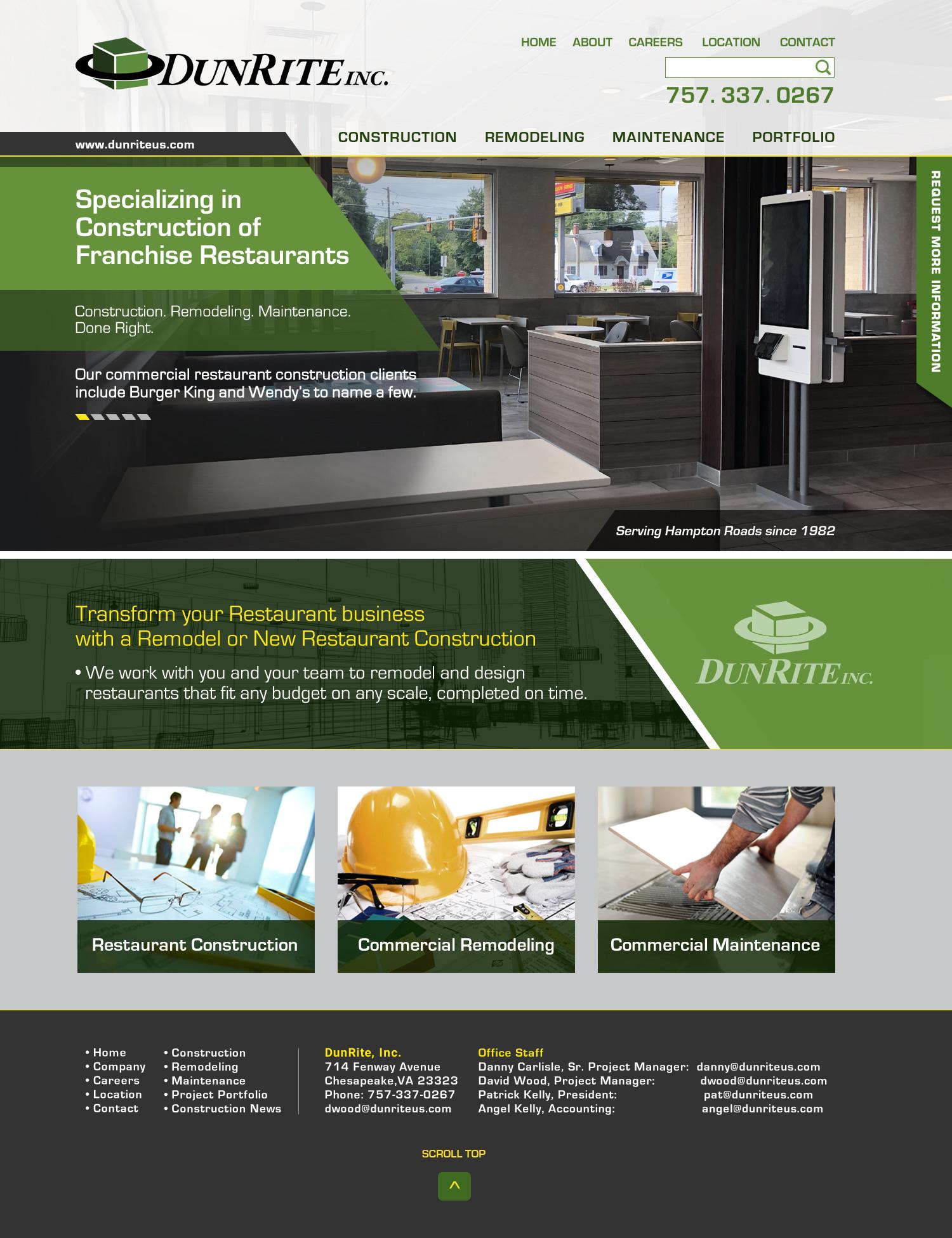 Professional web design building contractors, Web design