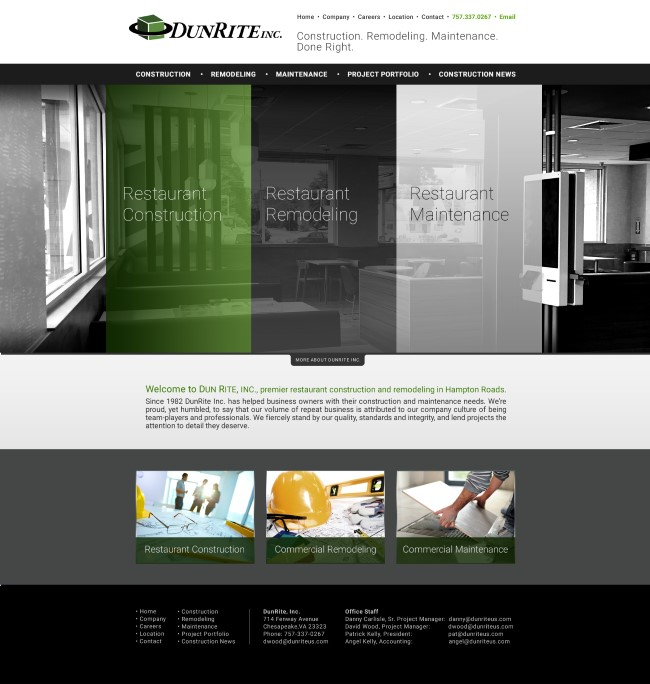 Professional web design general contractors, Web design