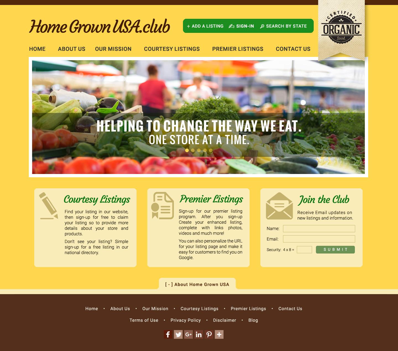 Responsive Web Designs Virginia : Home Grown USA club