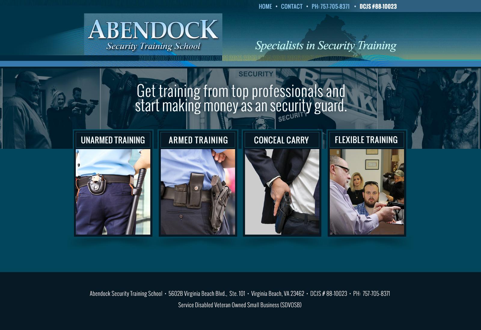 Responsive Web Designs Norfolk Va Abendock Security Training School