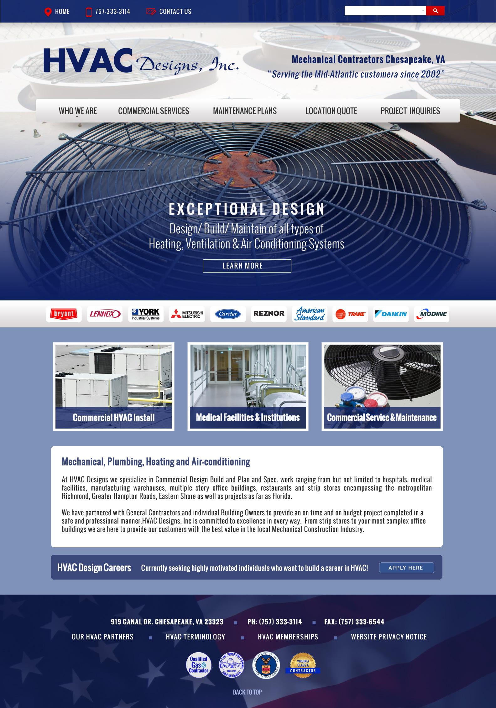 Web Design HVAC Companies VA : VISIONEFX DESIGN