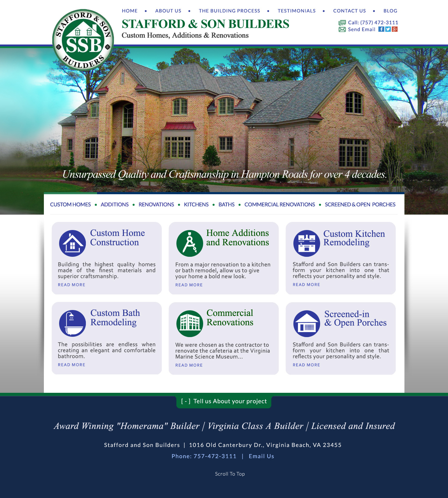 Web Design for Home Remodeling Contractors Virginia Beach VA : VISIONEFX