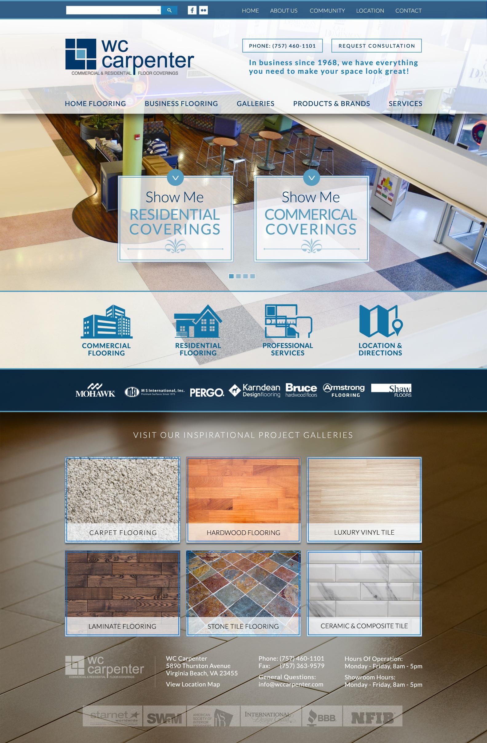 Floor Company Website Design | VISIONEFX WEB DESIGN